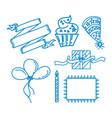 birthday anniversary design graphic template vector image vector image