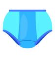 blue women control briefs icon cartoon style vector image vector image
