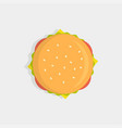burger top view vector image