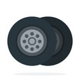 car tires flat isolated vector image