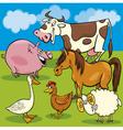 cartoon farm animals group vector image vector image