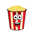 Cartoon popcorn character vector image