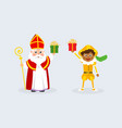 celebration sinterklaas day vector image vector image