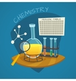 Chemical Laboratory Cartoon Icons Set vector image vector image