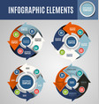 circle infographics set 4 vector image vector image