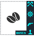 coffee beans icon flat vector image