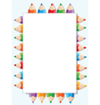 color pencils and paper vector image vector image