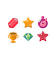 colorful bright jelly shapes set crystal winner vector image