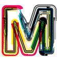 Colorful Grunge font LETTER M vector image vector image