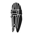 cricket foot protection icon simple style vector image vector image