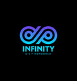 d p monogram infinity logo blue strips vector image