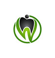 dental logo dental care logo dental clinic logo vector image vector image
