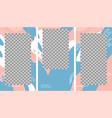 design backgrounds for social media banner set of vector image vector image