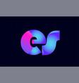 es e s spink blue gradient alphabet letter vector image vector image