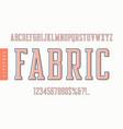 fabric condensed retro typeface uppercase vector image vector image