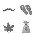 fashion symbol and other monochrome icon in vector image vector image