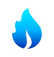 fire flames new blue icon for you vector image vector image