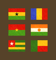 Flags of Ghana Chad Burkina Faso Niger Togo and vector image vector image