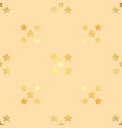 golden stars seamless pattern the image vector image