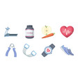 gym and training icons in set collection for vector image vector image