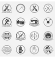 Handmade badges or labels vector image