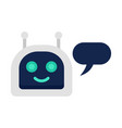happy chatbot icon flat style vector image vector image