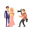 happy couple wedding bride groom photograph vector image vector image