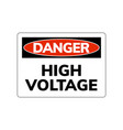 high voltage danger sign warning symbol vector image vector image