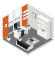 Home offices room isometric icon set vector image vector image