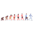 human evolution male character development from vector image