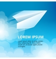 icon set origami plane collection vector image vector image