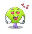in love green tree willow on the character vector image