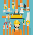 industrial concept design flat with repaiman vector image vector image