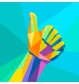 Likehand sign geometrical style vector image vector image