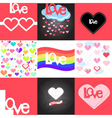 LoveCards Set vector image vector image