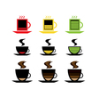 low battery coffee vector image vector image