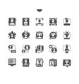 man avatar well-crafted pixel perfect vector image vector image