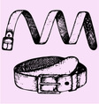 mans belt fashion accessory vector image vector image