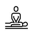 massage spa salon line icon wellness vector image