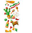 mexican cinco de mayo seamless pattern vector image vector image