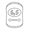modern glucose meter icon outline style vector image vector image