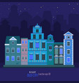 old night city vector image