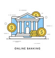 online banking internet payments money vector image vector image