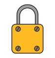 Padlock lock Flat colored icon Object of vector image vector image