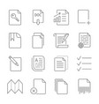 paper icon document icon editable stroke vector image vector image