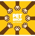 pet paw shop vet clinic food vector image vector image
