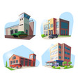 police firehouse hospital military base vector image vector image