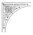 renaissance spanrail panel was designed by dutch vector image vector image