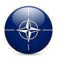 Round glossy icon of nato vector image