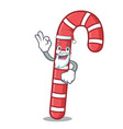 santa candy canes mascot cartoon vector image